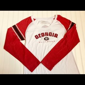 Women's Georgia Bulldawgs Baseball Shirt XL